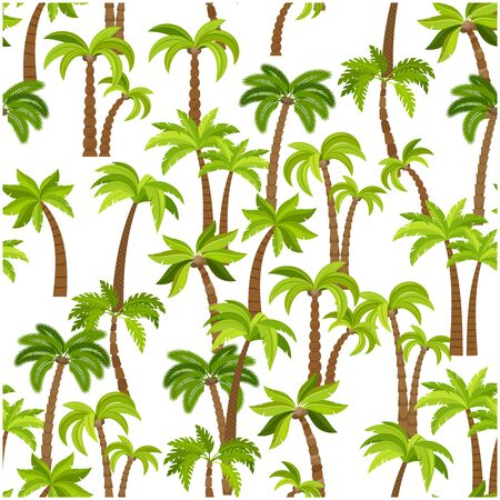 textile industry: Palm trees seamless pattern. Beautiful vectro palma tree design for textile industry