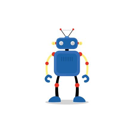 whitebackground: Blue roboticon, isolated on whitebackground. Vector illustration