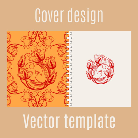 chinese knot: Cover design for print with chinese pattern. Vector illustration