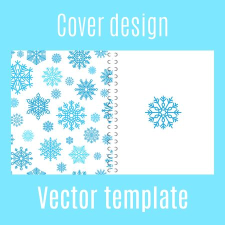 brightness: Cover design for print with winter snowflake pattern. Vector illustration