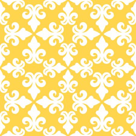 Yellow french ornamental decorative ceramic tile vector design Illustration