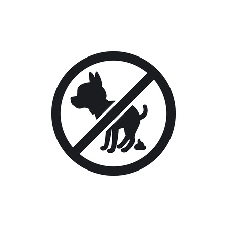 Black park sign with dog silhouette, vector illustration