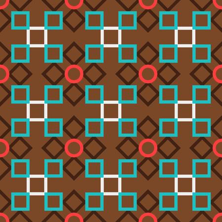 Brown türkische dekorative dekorative Keramikfliesen Vektor-Design Vektorgrafik