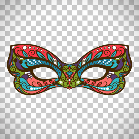 Vector mask colored mask in butterfly colors isolated on transparent background Illustration