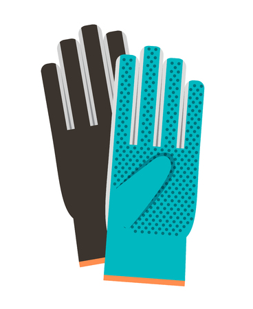 Gloves colorful vector icon on white background