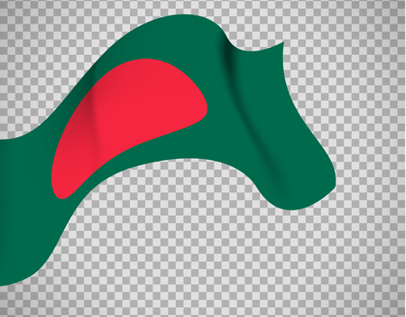 Bangladesh flag on transparent background