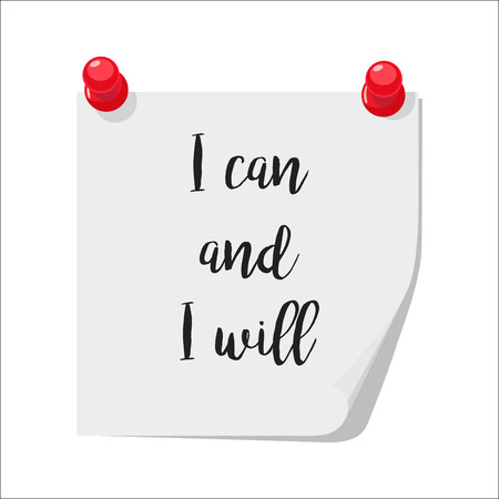 I can and I will note Illustration