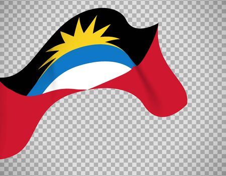 Antigua and Barbuda flag on transparent