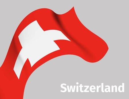 Background with Switzerland wavy flag