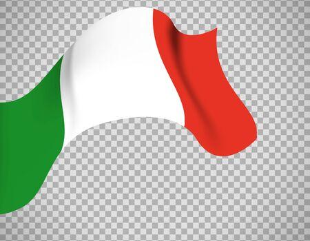 Italy flag on transparent background  イラスト・ベクター素材