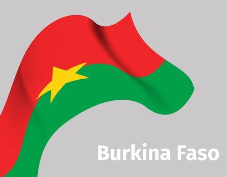 Background with Burkina Faso wavy flag