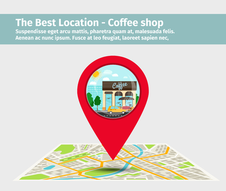 Best location coffee shop Illustration