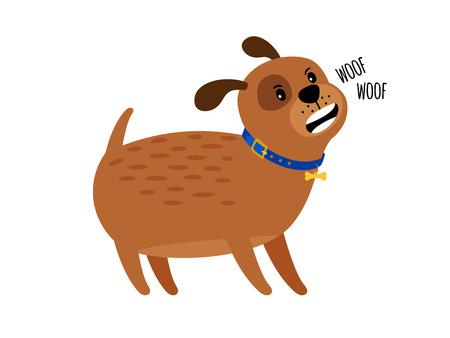 Woof woof cute puppy dog