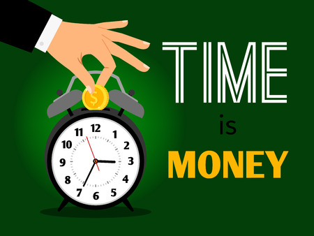 Time is money concept Vector illustration. Ilustrace