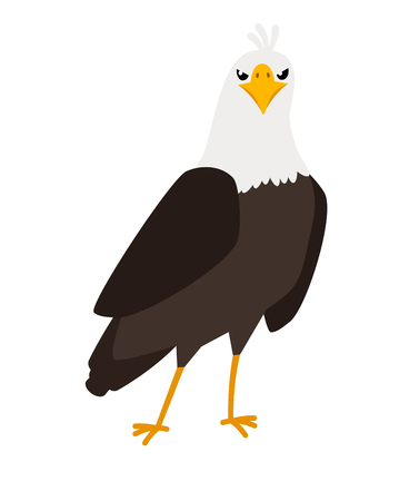 Eagle cartoon bird icon