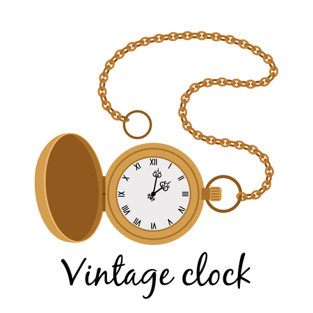 Vintage gold watch icon
