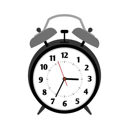 Classical black alarm clock Illustration