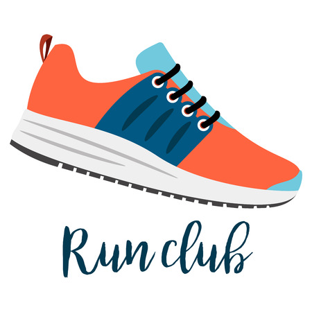 Shoes with text run club
