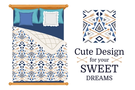 Cute design for bed linen