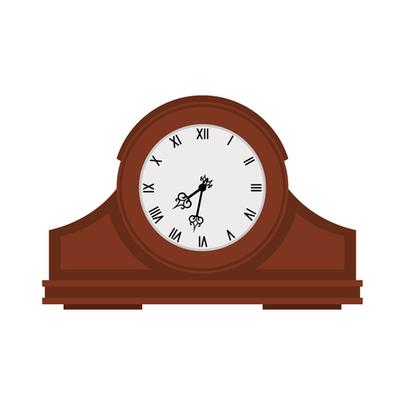 Analog old wooden wall clock.