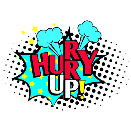 Hurry up cartoon icon Stock fotó - 97555385