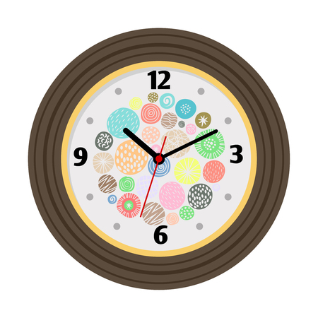 Wall clock with artistic background