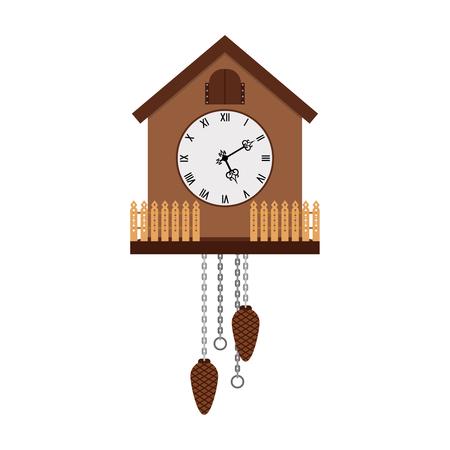 Beautiful cuckoo-clock isolated on white