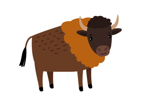 Bison wild animal cartoon icon 写真素材