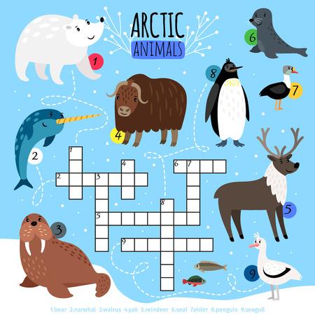 Arctic animals crossword puzzle