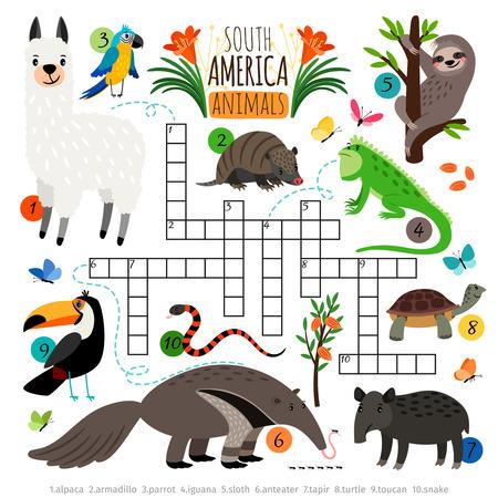American animals crossword Vettoriali