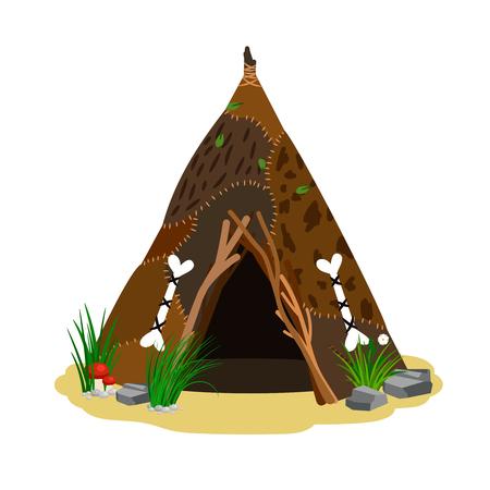 Chata starożytnego człowieka Ilustracje wektorowe