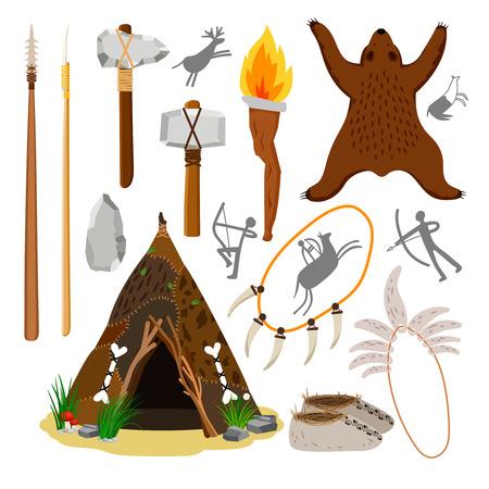 Primitive Höhlenmenschenelemente
