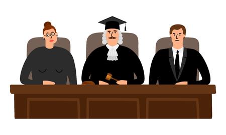 Judges court concept Vektorové ilustrace