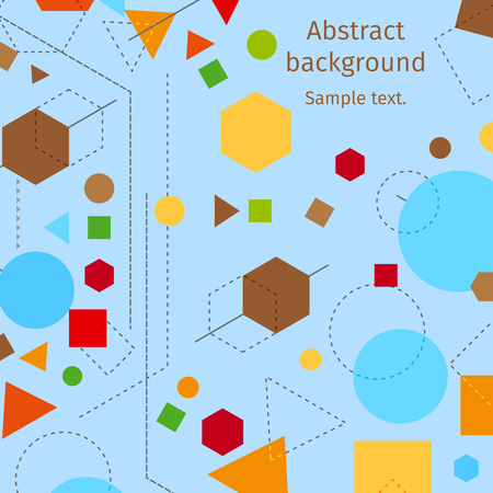 Abstract modern geometric blue background vector design with lines and shapes elements. Abstractive constructivist style