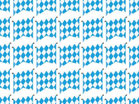 Oktoberfes flags seamless pattern vector illustration blue on white