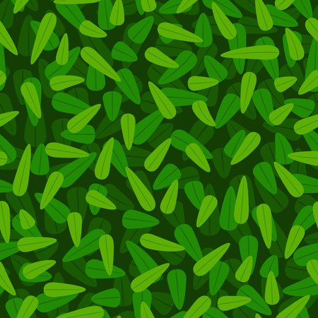 Green foliage pattern. Vector spring leaves seamless pattern abstract organic background, garden tree leaf botanical texture