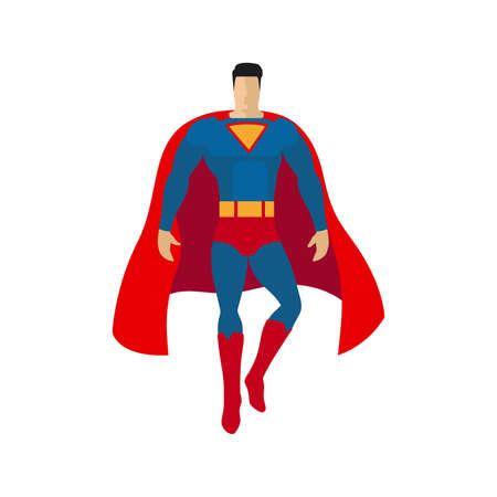 Superhero flat style isolated icon. Vector illustration