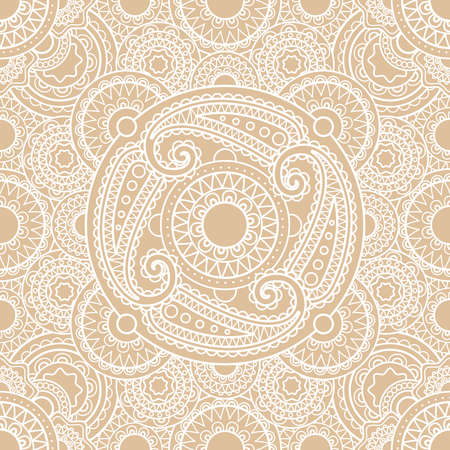 White vector indian lace seamless pattern background Vecteurs