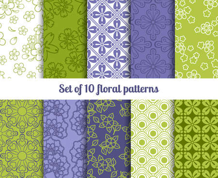 High-quality floral wallpaper patterns for backgrounds and invitations