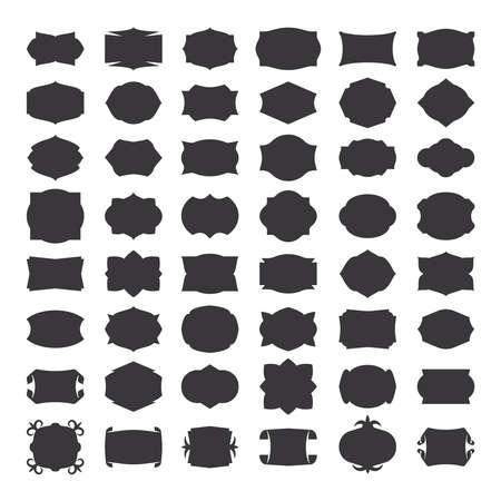 Blank frames for label with frames or emblem with frame or border. Vector frames Vettoriali