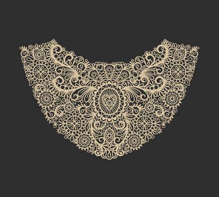Neck print icon. Neck lace fashion print design. Vector illustration Vecteurs
