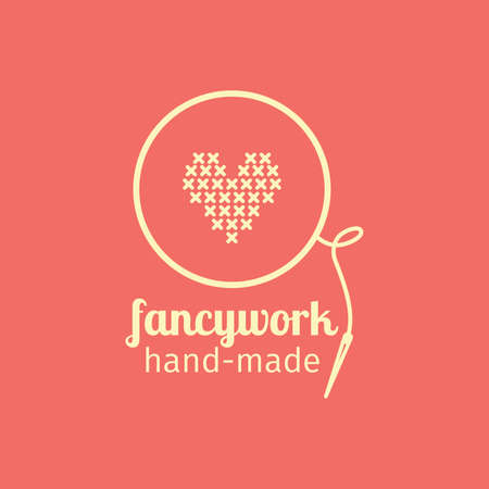 Fancywork handmade thin line icon. Colorful vector design