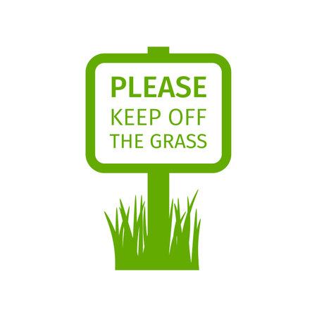 Park sign keep off the grass