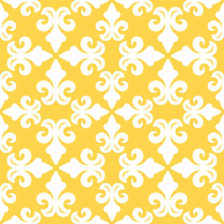 Yellow french ornamental ceramic tile Ilustrace
