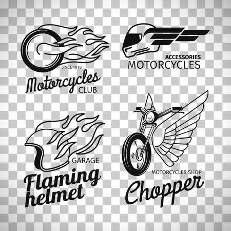 Motorcycle race logo on transparent background