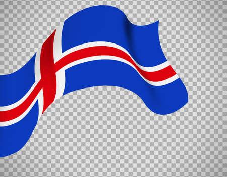 Iceland flag on transparent background