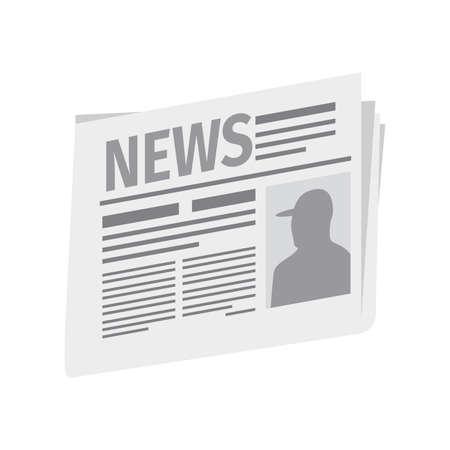 Fresh newspaper isolated on white background