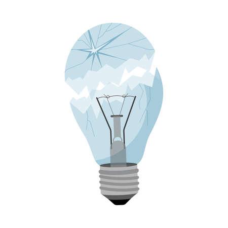 Garbage element broken light bulb