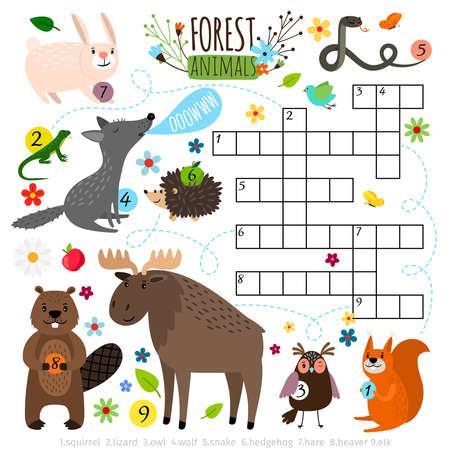 Forest animals crossword puzzle