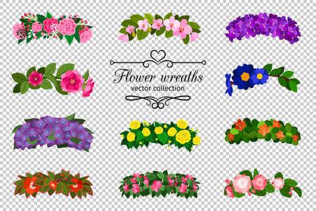 Flower wreaths set Vecteurs